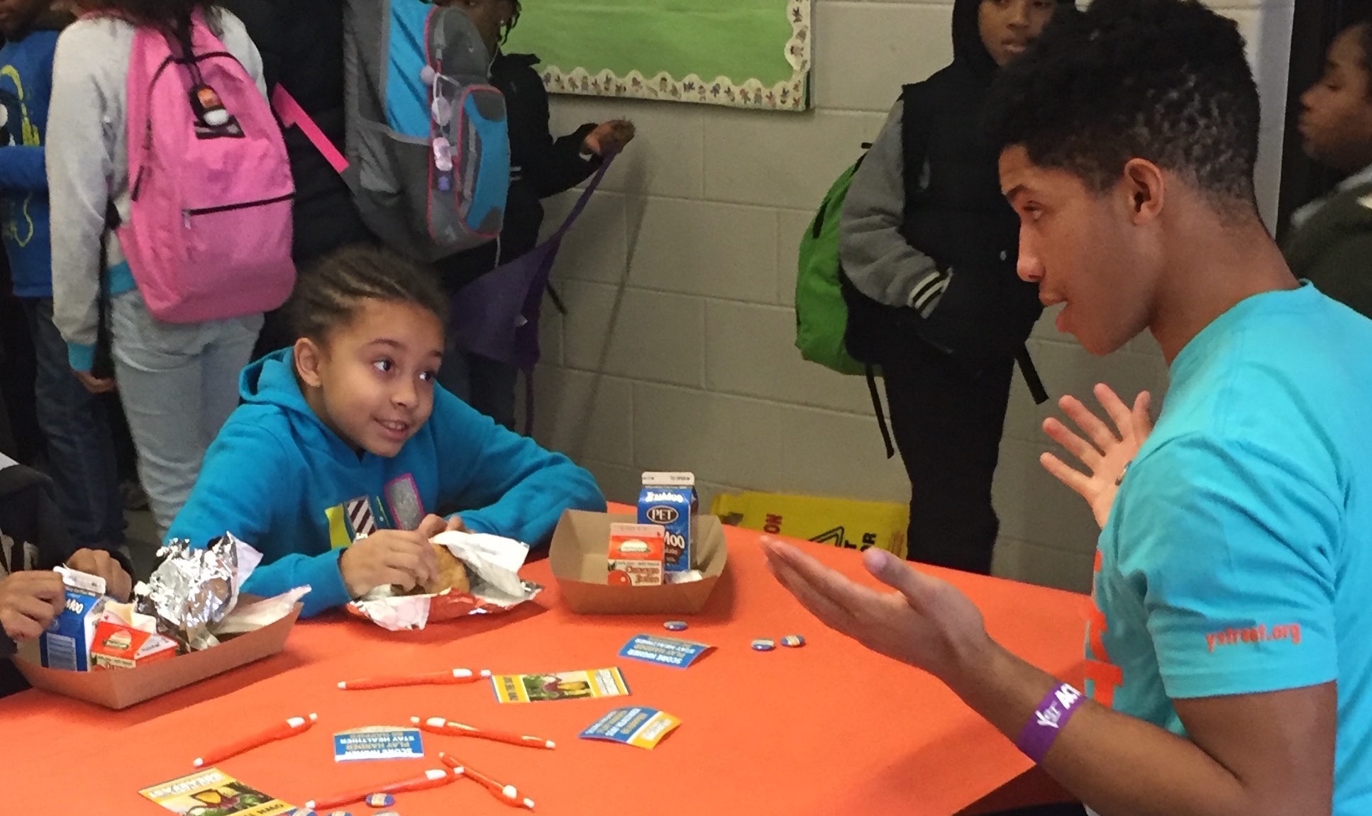 "Celebrating ""Breakfast With A Bud"" at Hopkins Road Elementary School"